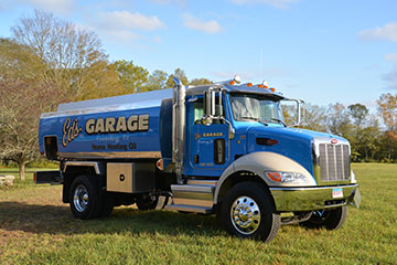 Image of an Ed's Garage Heating Oil Delivery Truck